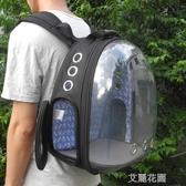 寵物太空包貓咪背包外出透明便攜箱包太空寵物艙包 『艾麗花園』