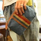 撞色手包日韓潮流男女手拿包英倫街頭帆布小包簡約迷你手機包錢包【快速出貨】