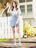 春夏下殺↘5折[H2O]側邊穿繩綁帶設計仿麻感短褲 - 紫/粉/淺藍色 #9678010