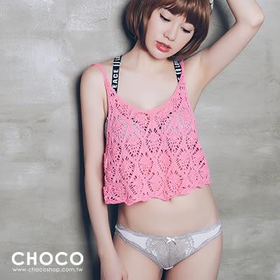 失戀巧克力‧萊卡高質感透膚內褲(粉色) S~L Choco Shop