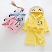 兒童浴袍法蘭絨男童女童女寶寶加厚長版睡衣小孩秋冬季珊瑚絨睡袍