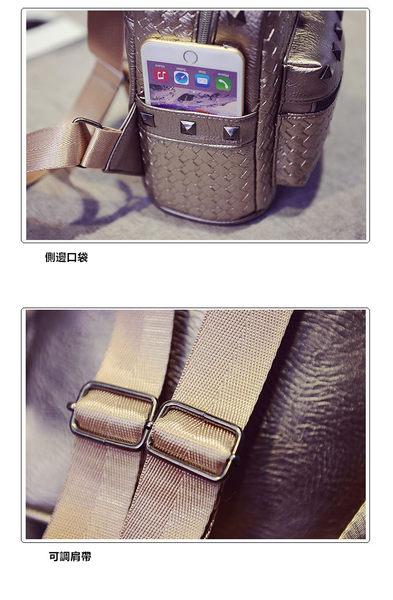 後背包-現貨販售-新款鉚釘編織後背包包-6927-寶來小舖