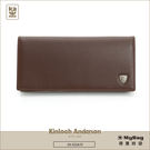 Kinloch Anderson 金安德森 皮夾 單色優質男 咖啡色 牛皮長夾 KA53308  MyBag得意時袋