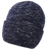 羊毛毛帽-簡約提花捲邊保暖男針織帽2色73wj27[時尚巴黎]