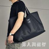 男士行李袋手提短途旅行包大容量行李包尼龍防水旅行袋休閒旅游包 DR13340【男人與流行】