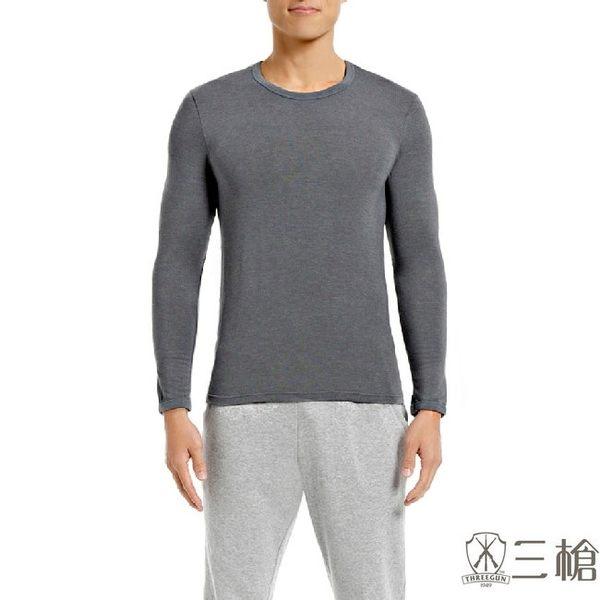 三槍牌 2件組灰色時尚經典台灣製男長袖TG-HEAT發熱衣
