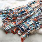 彩色波西米亞風菱形圍巾 WM-5590  | OS小舖