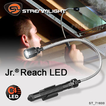 StreamLight Jr.R Reach LED 手電筒#71600 黑色/吊卡【AH14026】99愛買生活百貨
