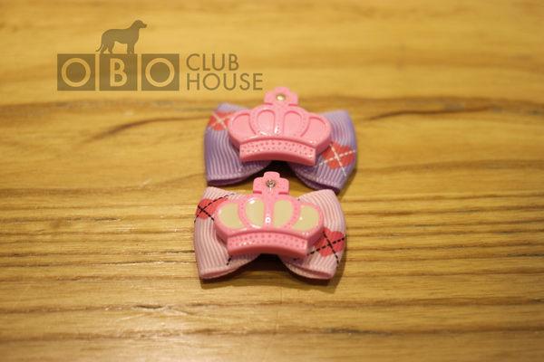 ★OBO CLUB HOUSE☆ 皇冠鑽石十字架虛線愛心蝴蝶結頭飾-兩色-(懶人夾)