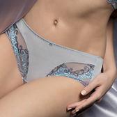 【LADY】蔓藤花舞系列 低腰平口褲(藍灰色)