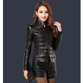 羽絨外套 短款-冬季單排釦OL修身顯瘦女外套72i43[巴黎精品]