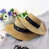 清新海邊春夏出游蜜蜂蝴蝶節草帽女防曬遮陽沙灘可折疊小禮帽透氣