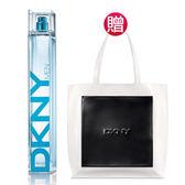 DKNY 2018夏季限量男性淡香水100mL(贈)撞色托特包★Vivo薇朵