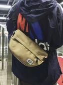 潮流時尚原宿男士單肩包胸包休閒斜挎包女帆布韓版潮