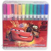 〔小禮堂〕迪士尼 閃電麥坤CARS 48色中性筆《透明盒裝.紅.美國國旗》 6580468-26007