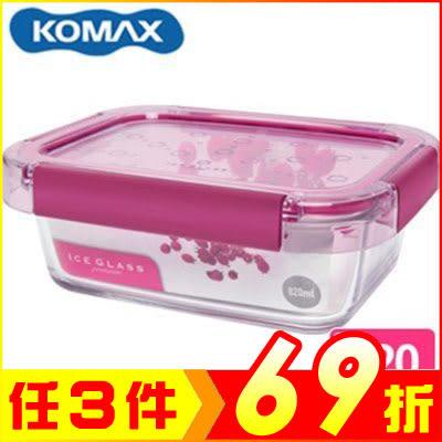 韓國 KOMAX 冰鑽長形強化玻璃保鮮盒 粉 820ml 59854【AE02269】大創意生活百貨