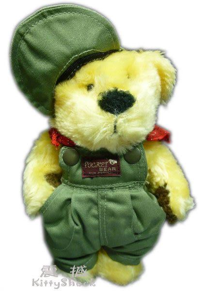 【震撼精品百貨】Teddy Bear 泰迪熊~絨毛娃娃玩偶『軍綠吊帶褲』