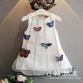 洋裝/裙子 童裝2019夏裝新款韓版女童兒童立體布貼蝴蝶紗質連身裙背心裙0811