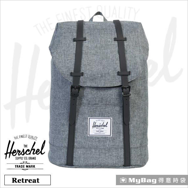 Herschel 後背包 亮灰色 15吋休閒電腦後背包 Retreat-1132 MyBag得意時袋