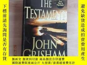 二手書博民逛書店英文書罕見THE TESTAMENT JOHN GRISHAM(