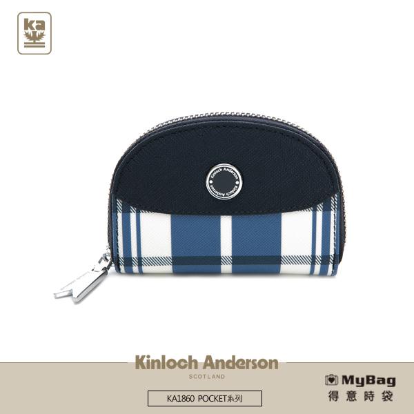 Kinloch Anderson 金安德森 皮夾 POCKET 拉鍊零錢包 深藍 KA186004 得意時袋