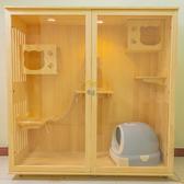 實木 貓籠子 貓別墅 超大號貓舍 豪華貓窩 貓櫃 展示櫃雙層三層家用木質 新年特惠