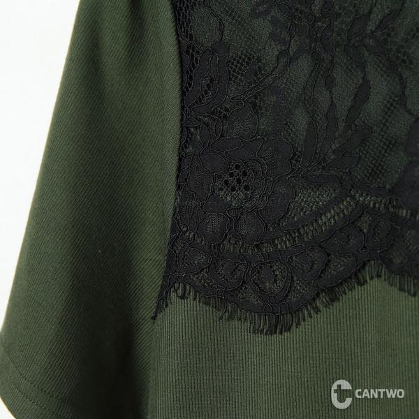 CANTWO微性感蕾絲拼接上衣-共三色