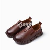 快速出貨新款童鞋男女童小皮鞋豆豆鞋透氣兒童單鞋休閒運動鞋懶人