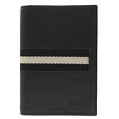 茱麗葉精品【全新現貨】BALLY 6234202 TREVOR 壓印LOGO品牌織帶牛皮護照夾.黑