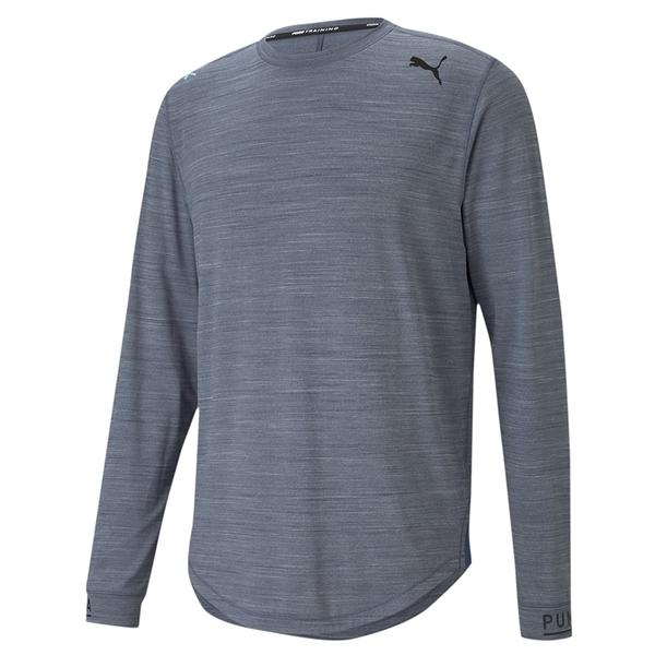 Puma 藍色 男 長袖 運動上衣 慢跑系列 長薄T 排汗 透氣 運動 上衣 跑步 薄長袖 52057789