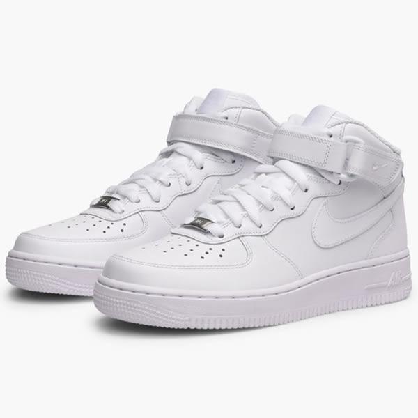 Nike Air Force 1 Mid 07 LE 女 全白 高筒 休閒鞋 女鞋 流行 休閒 經典 潮流 復古 街頭 366731100