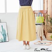 【Tiara Tiara】百貨同步新品aw 小捧花刺繡長裙(藍/黃)