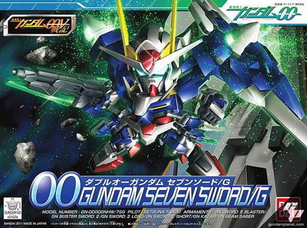 BB戰士 SD鋼彈00V戰記 BANDAI 組裝模型 GN-0000GNHW/7SG 七劍型00鋼彈G 368