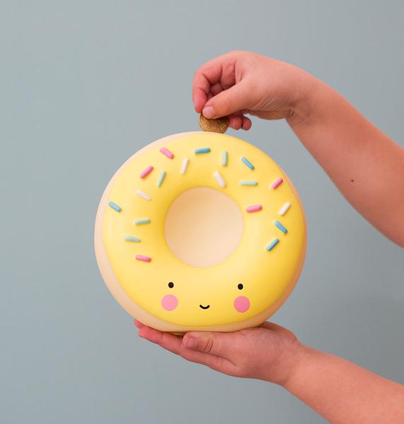 荷蘭 A little lovely company】造型存錢筒 - 檸檬黃甜甜圈 #MBDOYL06
