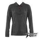 【PolarStar】女 吸排抗UV POLO衫『鐵灰』P20254 上衣 休閒 戶外 登山 吸濕排汗 透氣 長袖