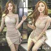 中大尺碼OL洋裝 夜場性感女裝職業包臀裙子女人味衣服修身顯瘦連身裙 nm19226【Pink 中大尺碼】