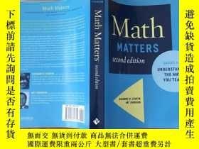 二手書博民逛書店Math罕見Matters grades k-8 underst
