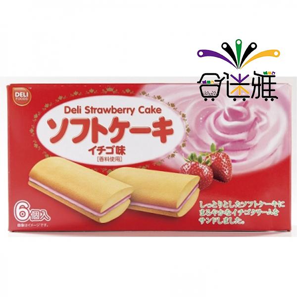 DELI-草莓風味夾心蛋糕(108g/盒)X1盒【合迷雅好物超級商城】 -01