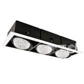 【光的魔法師Magic Light】AR70雙色有邊盒燈三燈-方形崁燈黃光3000k