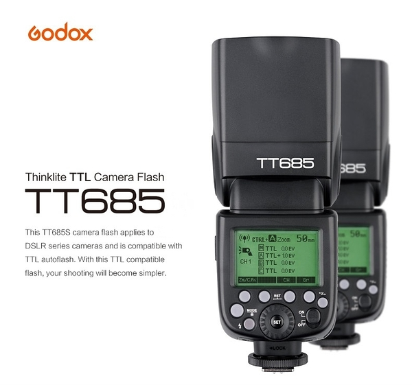 Godox 神牛 TT685 TTL 機頂閃光燈 2.4G 閃光燈 GN60 【開年公司貨】TT685S TT685F TT685N TT685C TT685O