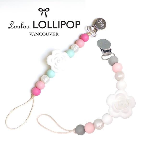 加拿大 嬰幼兒繽紛串珠 山茶花系列 奶嘴夾/奶嘴鍊夾 (多款可選) - Loulou Lollipop