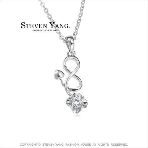 項鍊STEVEN YANG 正白K飾「流星之戀」晶鑽 甜美淑女款