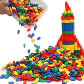 火箭子彈頭積木玩具益智兒童拼插塑料幼兒園