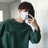 2018夏季新款男士長袖T恤學生韓版寬鬆