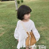 女童襯衫 春裝兒童白色襯衫裙韓版女童可愛娃娃裙百搭 童趣屋