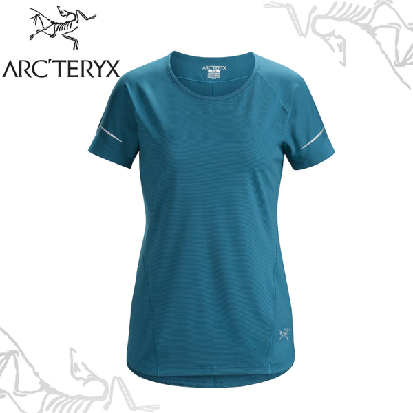 【ARC TERYX 始祖鳥 女 Motus 快乾短袖圓領衫《神話綠》】18908/透氣/吸濕排汗/防曬/T恤/運動衫/跑步