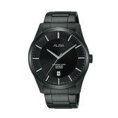 日本  ALBA雅柏錶*原廠保固一年   時尚簡約日期視窗腕錶 VJ42-X211SD(AS9C91X1)黑