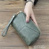 2020新款日韓長款女士女包簡約百搭手拿包簡約零錢手抓包手機包 依凡卡時尚
