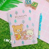 正版 Rilakkuma 拉拉熊 牛奶妹 懶懶熊 線圈筆記本 記事本 A款 COCOS RR060
