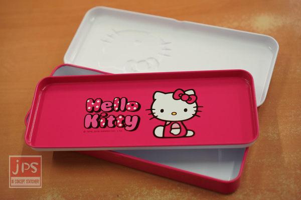 Hello Kitty 凸面 鐵筆盒 粉